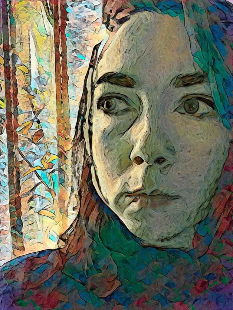 Katie Seaborn (part of the Lockdown Selfie series for AI-based creativity in portraiture by Steve DiPaola 2021)